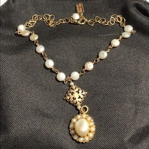 Real pearl necklace GOLD and pearls